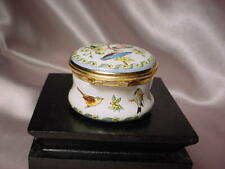 Miniature Enamel 'Halcyon Days' Box Made In England