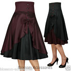 RK89 Rockabilly Work Vintage Pin Up Formal Retro Swing Dress 50s Dance Skirt