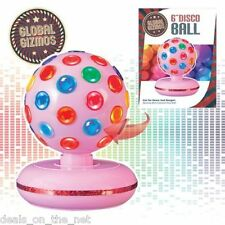 "New 6"" Rotating Disco Ball BJ Christmas Party Stage Club Disco Xmas LIGHT PINK"