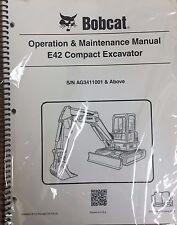 Bobcat E42 Compact Excavator Operation & Maintenance Manual Owner's 1 #6989432