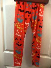 "Dot Dot Smile ""Jack O' Lantern Faces"" Leggings SZ 7 New w/o Tags Halloween"