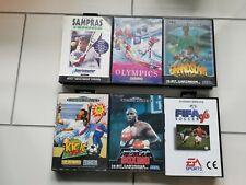 6x - Sega Mega Drive - Games / Spiele PAL CIB Fifa, Boxing, Tennis, Olympics