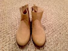 NWT Joe Fresh Girl Shoes Size 3 Booties Boots Tan Faux Suede $63