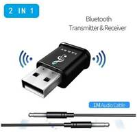 NEW USB Bluetooth 5.0 Transmitter Receiver AUX Audio Music Adapter for TV/PC/Car