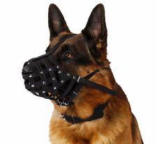 German Shepherd Setter Doberman Leather Dog Muzzle Black Brown Pink Medium Large