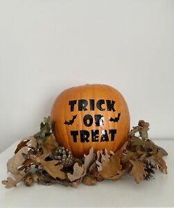 Halloween Decorations Pumpkin Stickers Trick or Treat Bats Spiders