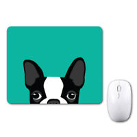 Boston Terrier Dog Doggy Funny Mouse Mat Pad Notebook Computer Laptop Mice