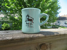 """CARIBOU COFFEE MUG/CUP """"LIFE IS SHORT. STAY AWAKE FOR IT"""" ADVERTISING"""