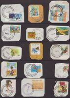 Tasmania nice page of complete decimal postmarks on piece