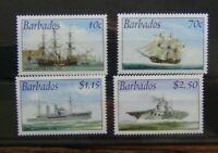 Barbados 2003 Royal Navy Connections set MNH