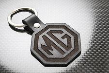 Mg luxe en cuir porte-clés keychain schlüsselring porte-clés mgb gt zt zr zs mgf