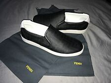 Men's Fendi Slip On Sneakers Black Zucca US 9