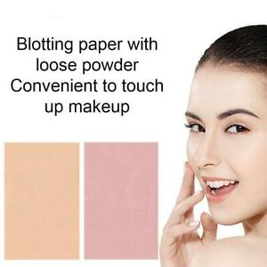 Makeup Powder Papers With Puff and Mirror 50pcs