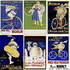 Michelin Man - Bibendum - Bicycle Posters - Set of 6 Posters - Racing - Cycling