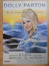 DOLLY PARTON 2014 BERLIN  orig.Concert-Konzert-Tour-Poster-Plakat - min.Einriss