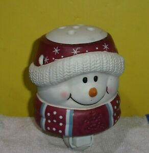Christmas Snowman Outlet Scented Wax Cube Warmer