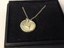 """Cookie Heart TG425 Pewter On 16"""" Silver Plated Curb Necklace"""