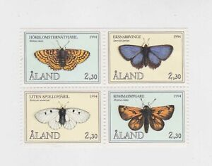 aland 1994 Sc 78/81 butterfly,block of four,MH    q2054
