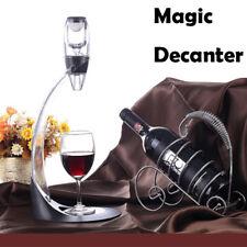 Clear Glass Wine Decanter Handmade Glass Wine Dispenser Barware With Gift Box