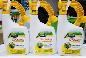 Lot of 3 Bottles of Scotts Liquid Turf Builder with Plus 2 Weed Control, 32 oz