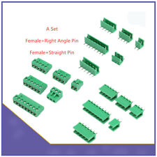 Set Terminal Block Ramps Straight Connector 5.08mm Plug-in Screw 2 3 4 5 6 8 PIN