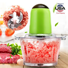 2L Electric Meat Grinder Multifunctional Kitchen Stainless Sausage Maker Cutter