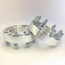 """2X Custom Wheel Spacers Adapters ¦ 8X6.5 TO 8X6.5 ¦ 14X1.5 ¦ 1.0"""" INCH 25mm"""