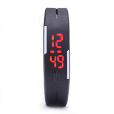 Simple Men's Digital LED Sports Wrist Watch Silicone Waterproof USA STOCK