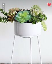 "Bloomingville 5-1/4""Rdx12-1/4"" ;H Terra-cotta Flower Pot w Metal Stand"