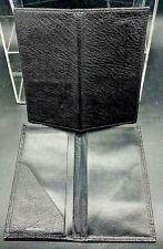 CHECKBOOK COVER Handmade BLACK Genuine BUFFALO LEATHER Organizer Made In USA