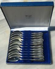 Set Spoon No 5.  Sterling Silver Tea Spoon Set of 12, silver .800 Hand made .