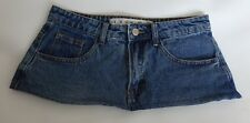 "7 1/4"" Length Faded Blue Denim Micro Mini Skirt Size 8"