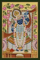 Indian Religious Pichwai Painting of Shrinath ji hand painted on cloth decor art