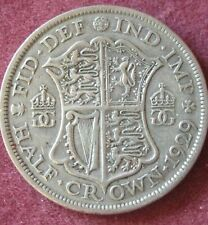 1929 George V Half Crown Silver.   (2) ref.