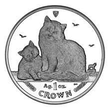 2013 Isle of Man Siberian Cat Coin 1 oz Silver Proof with Box & Coa