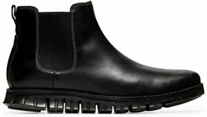 NIB Cole Haan Zero grand Chelsea Waterproof Leather Pull On Black Boots 10.5 M