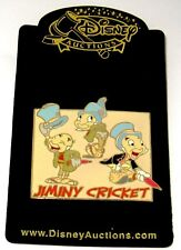 Le Disney Auction Pin✿Pinocchio Jiminy Cricket Model Sheet Umbrella Hat Patches