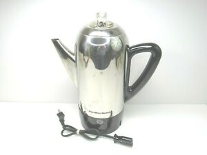 Hamilton Beach 40622R Stainless Steel Electric Coffee Pot Perculator COMPLETE