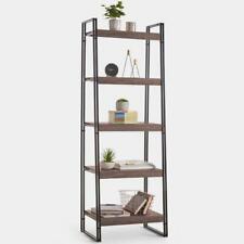 Urban 5-Tier Shelf Unit- Powder-Coated Steel Frame- Matching Items Strong Sturdy