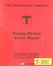 Torrington Swaging Machine, Service and Parts Manual 1969