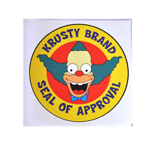 STICKER KRUSTY SEAL OF APPROVAL THE SIMPSONS BUMPER STICKER FREE POST