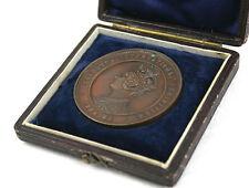 Antique Victorian Copper Medal Coin Calcutta Exhibition 1883-84 Boxed