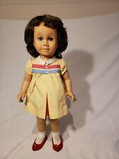 Vintage #1 Brunette Blue-Eyed Chatty Cathy in Nursery School Dress