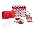 TRADESAFE Lockout TAGOUT KIT with Hasps, Loto Tags, Red Safety Padlocks | OSHA 1