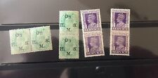 Collection of 8 mint Edward & KG VI stamps of British Indian issued in 1906-39