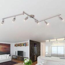 vidaXL Lámpara de Techo con 6 Focos LED Blanco Cálido de Níquel Satinado