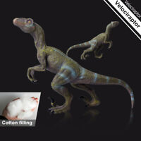 Blue Velociraptor Raptor Dinosaur Figure Animal Model Decor Toy Collector Gift