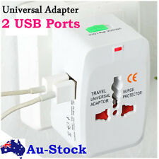 World Universal Travel Adapter with usb Converter wall Plug Power US UK AU EU