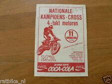 FLYER NATIONALE KAMPIOENS-CROSS 4-TAKT MOTOREN MCA AMSTERDAM 11 AUGUSTUS