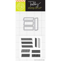 Clearly Kelly Kelly's Tape Hero Arts Clear Planner Stamp & Cut Die Set DC198 NEW
